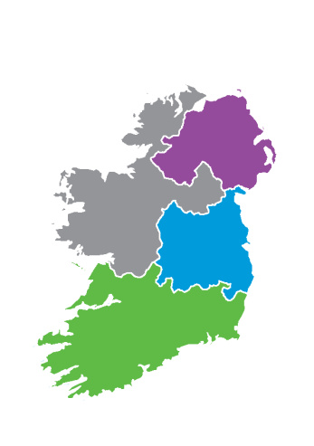 Regional Map Of Ireland.Planning And The Benefits Of A Coordinated Waste Strategy To The